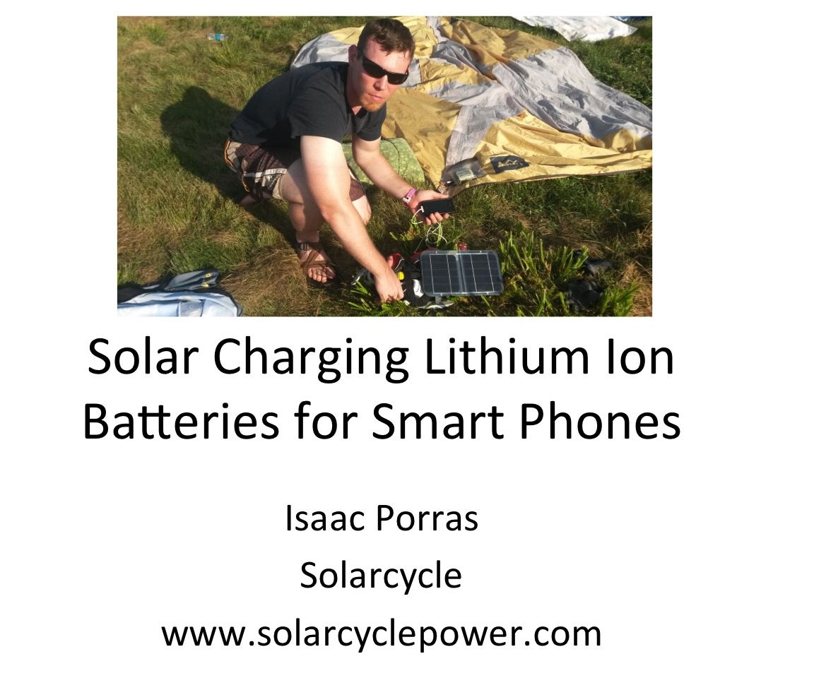 How to Solar Charge Lithium Ion Batteries for Smart Phones