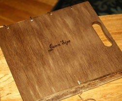 Portable Desktop Drawing and Painting Easel With Woodburning