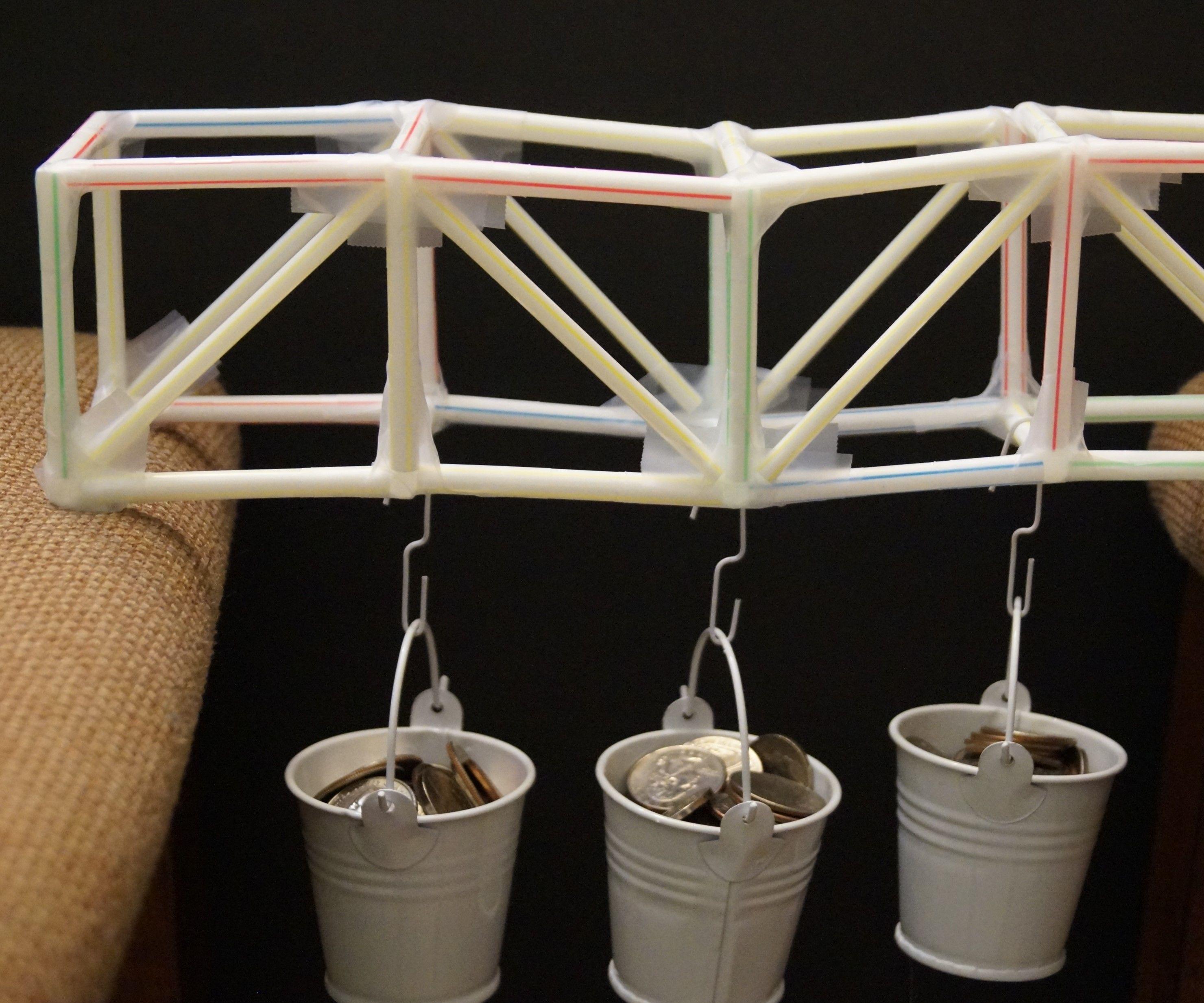 Truss Bridge 2 – Straws & tape (A challenge project)