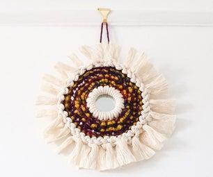 DIY Circular Macramé SUNBURST Ornament | Woven Rope & Fibre Mirror Project