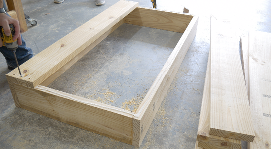Assemble the Main Frame and Attach the Bottom of the Sandbox