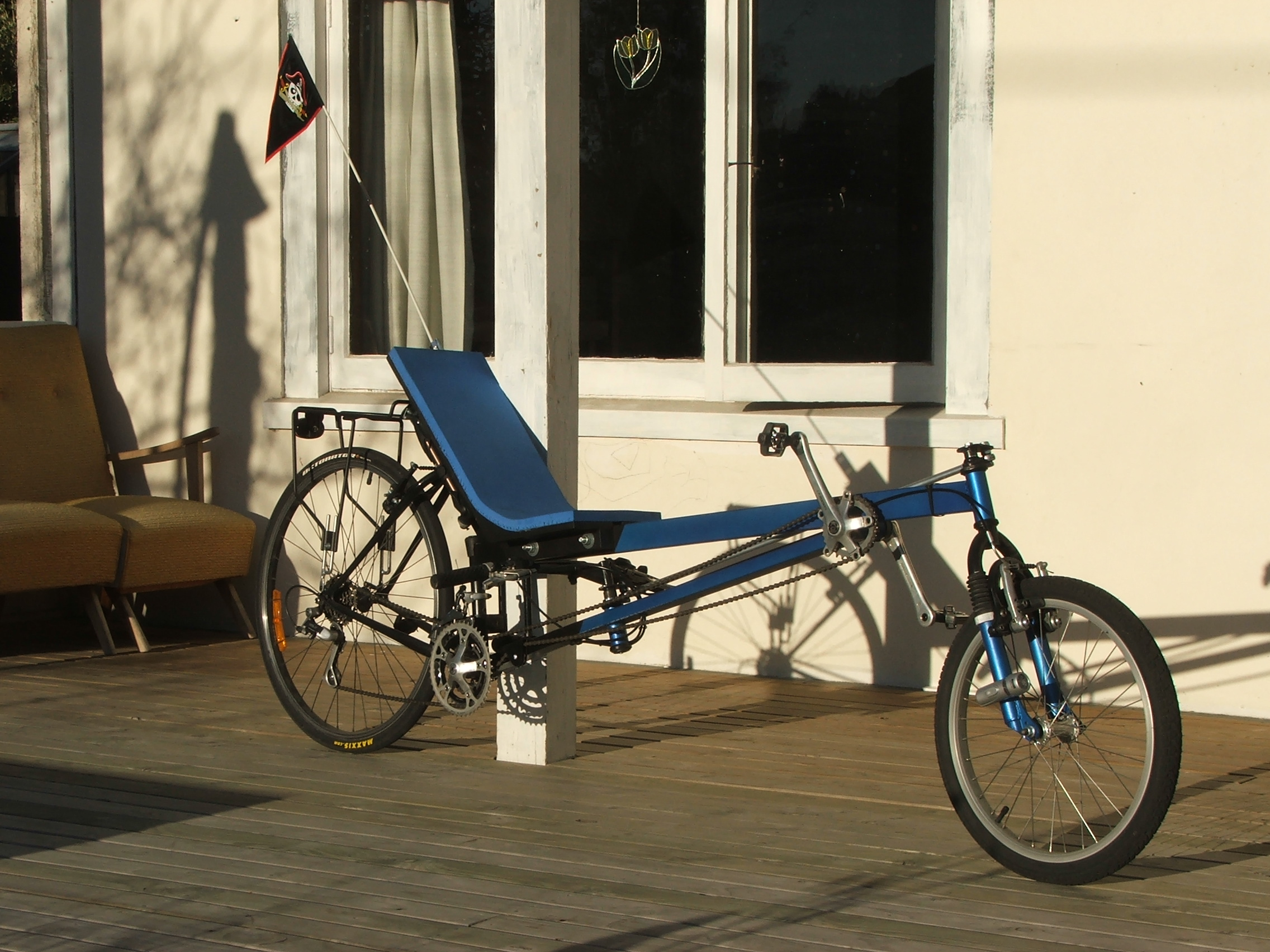 Rec-liner long wheel base recumbent