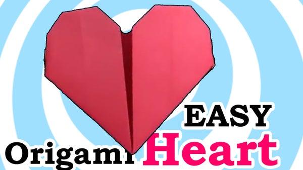 Easy Origami Heart - Video Tutorial