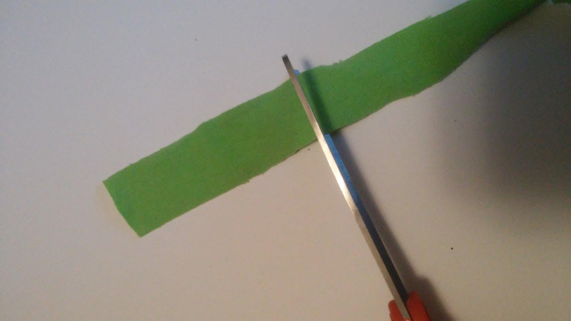 Cut Strips of Fabric