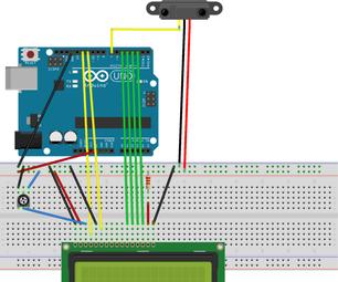 Interfacing IR Sensor and LCD Display With Arduino Uno