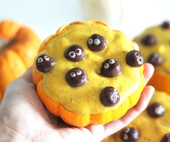 Vegan Pumpkin Smoothie With Soot Sprites