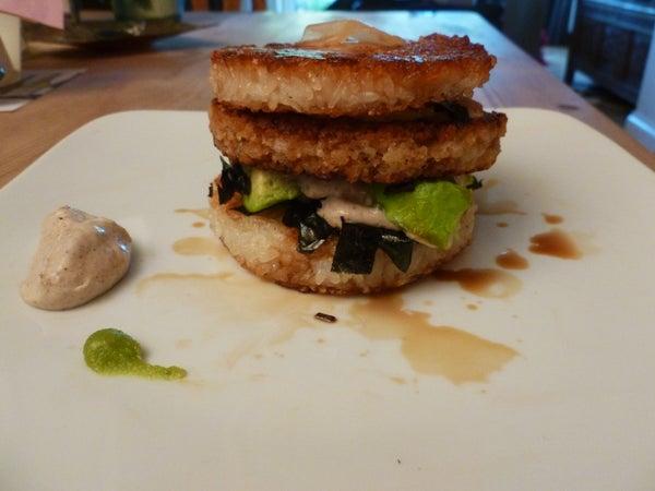Prawn (Shrimp) Sushi Burger