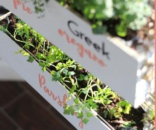 DIY Indoor Vertical Herb Garden With Toolbox Divas