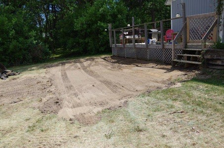 Lower Deck, Prepping, Posts, Frames and Pea Gravel