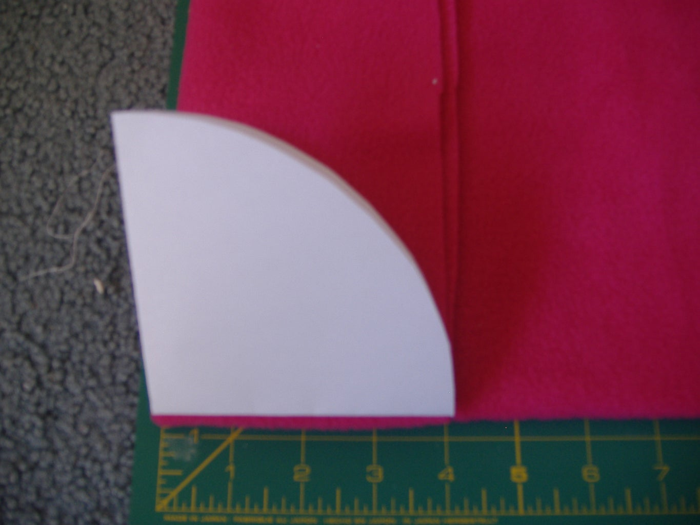 Cutting the Hat Pieces