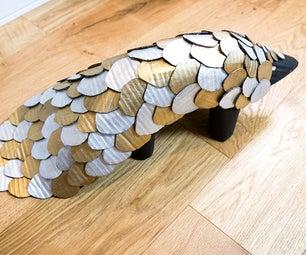 DIY Cardboard Pangolin   Sculpt an Armoured Animal With Recycled Card