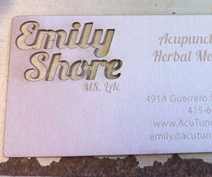 Lasercutting Business Cards:  Empty Space