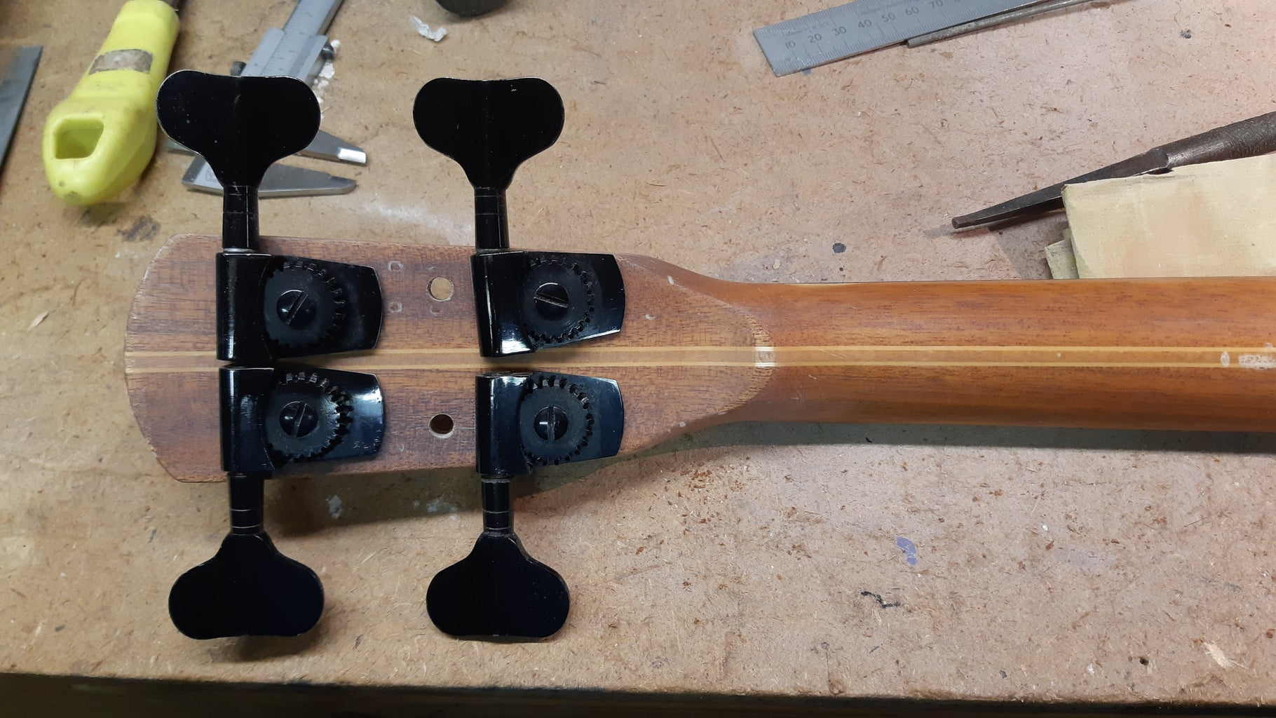 Installing the Frets and Tuners