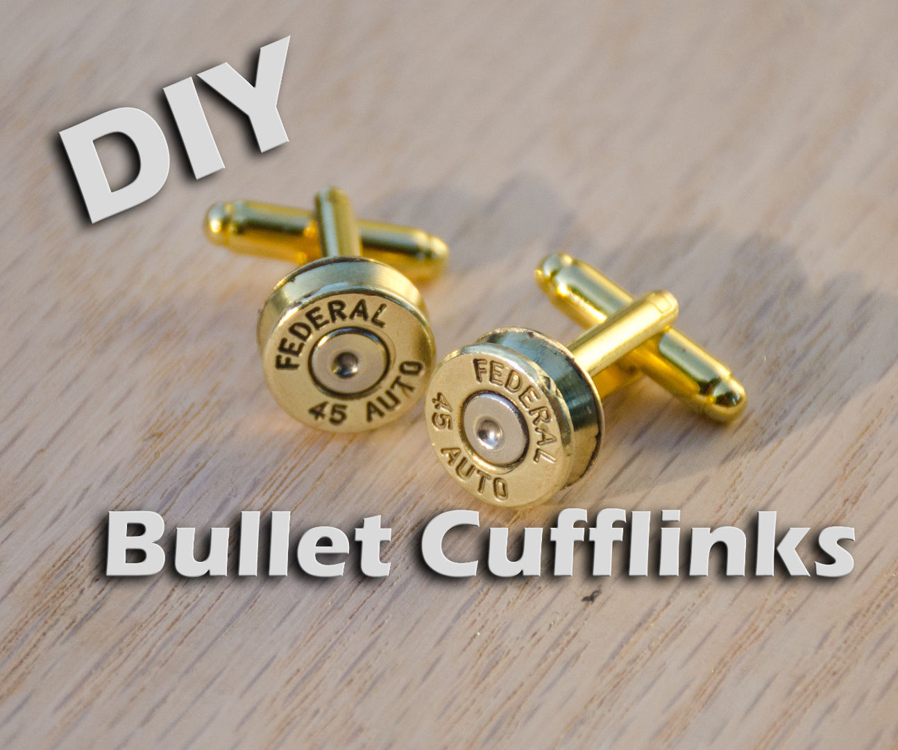 DIY Brass Bullet Cufflinks