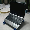 laptop stand made from pvc pipes