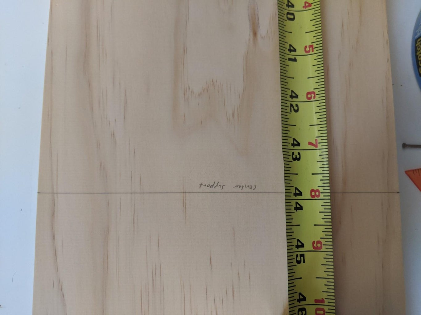 Marking the Boards (Center Support)