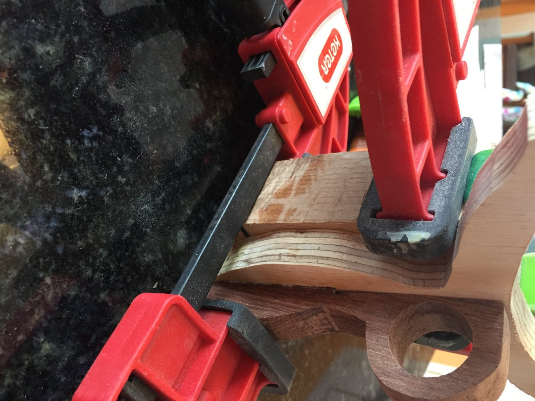 """Adding the """"filler Wood"""" to the Grip"""
