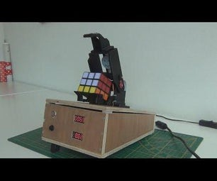 Rubik Cube Solver Robot, With Raspberry Pi and Picamera