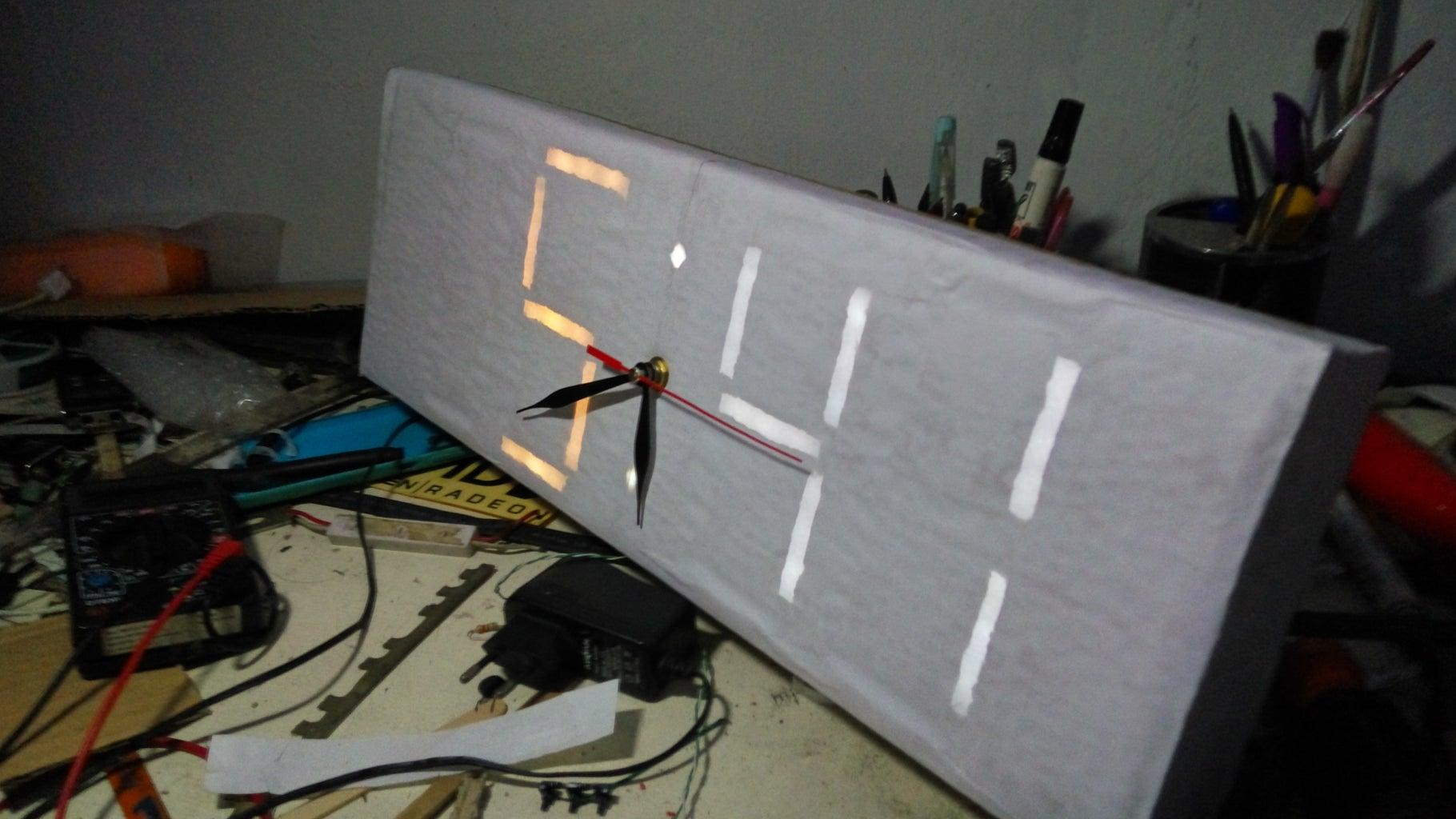 """""""Simple"""" Digilog Clock (Digital Analog) Using Recycled Material!"""