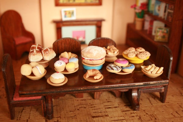 Miniature Food Made From Salt Dough