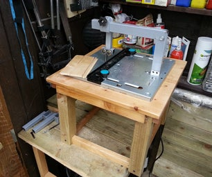 Home Made DIY Jigsaw Table With Blade Guide for Under £30