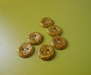 How to Make Glitter Buttons