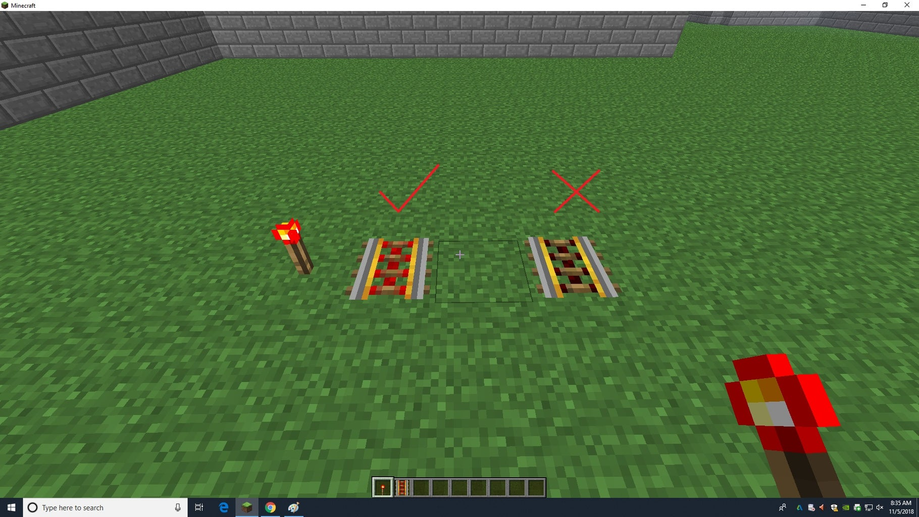 Adding Redstone Torches