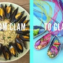RECYCLE YOUR DINNER! Mussel jewellery
