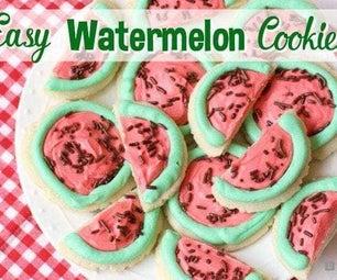 Easy Watermelon Sugar Cookies