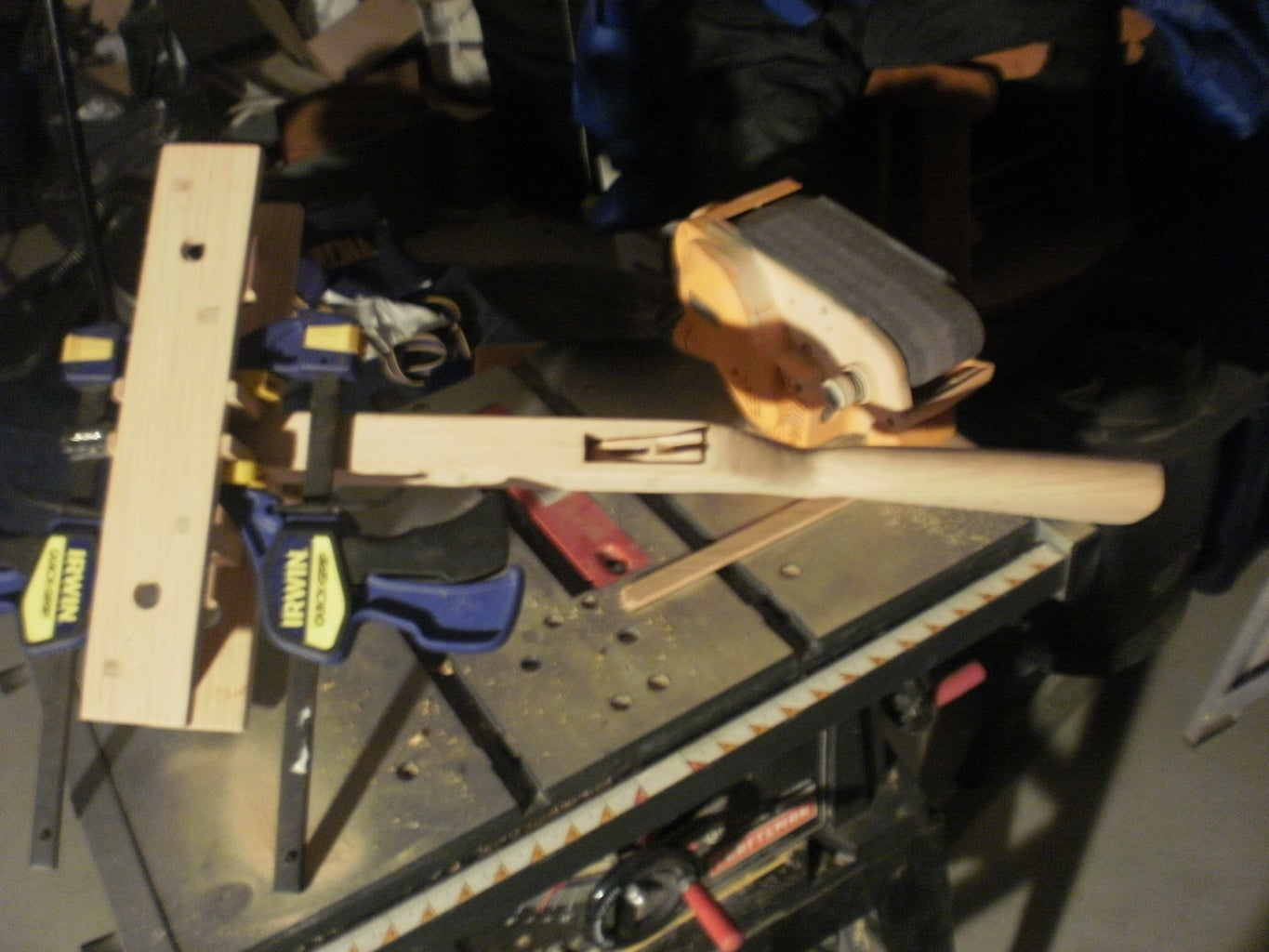 Attaching the Stock to the Main Frame and Attaching Arrow Guide