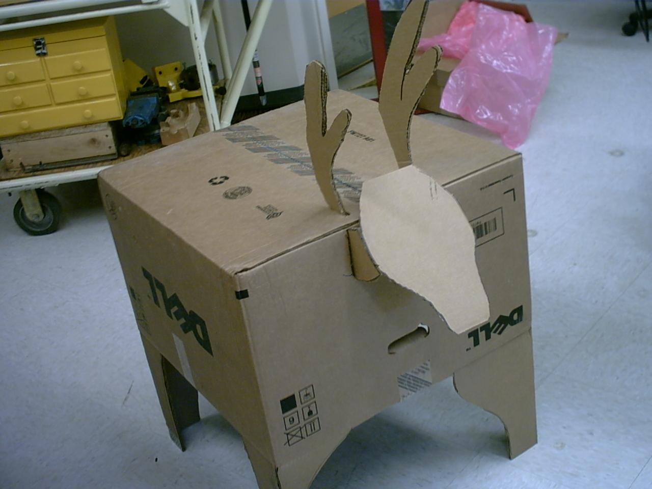 Make a Reindeer from a Computer Carton