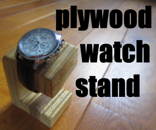 Plywood Watch Stand