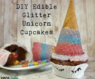 DIY Edible Glitter Unicorn Cupcakes