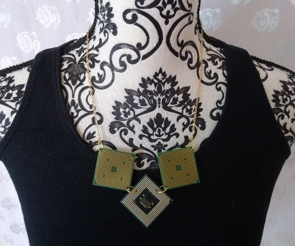 Electronic Cards Necklace
