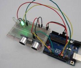 Arduino HCSR04 Leds Distance Warner