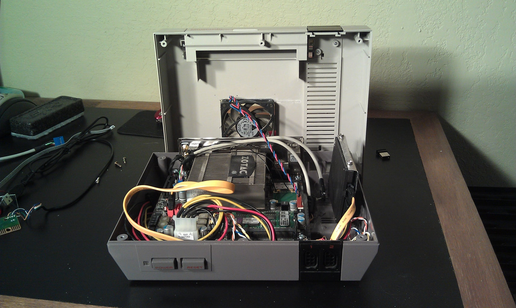 Put in the Motherboard