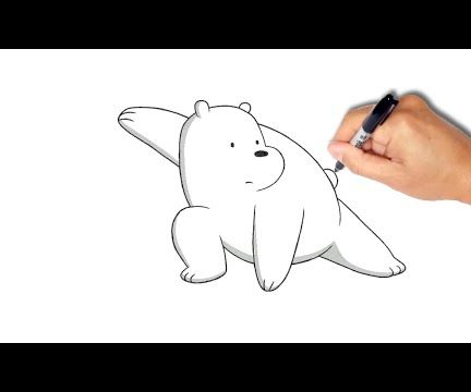 How to Draw Ice Bear in 1 Minute