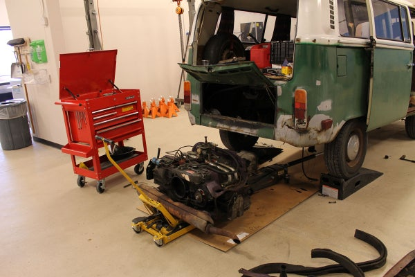 Replacing the Throwout Bearing on a VW Type II Bay Window Bus at TechShop