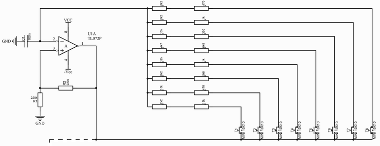 The Finished Oscillator Schematic