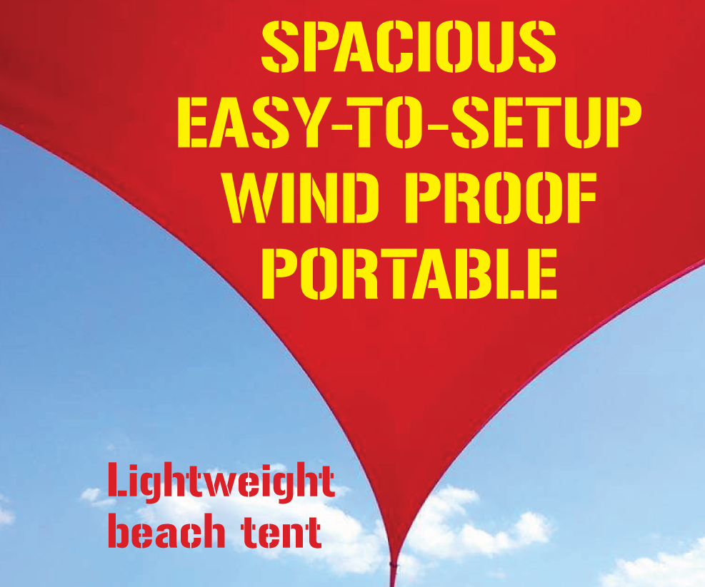 Compact Windproof Beach Tent