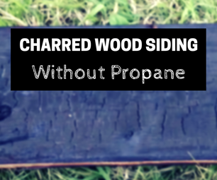 How to Make Charred Wood Siding (without Propane)