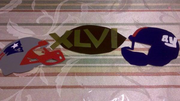 Superbowl XLVI Vinyl Wall Decor