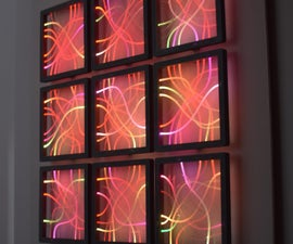 Fiber Optic and LEDs - a Wall Decoration