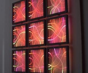 光纤和LED  - 墙壁装饰