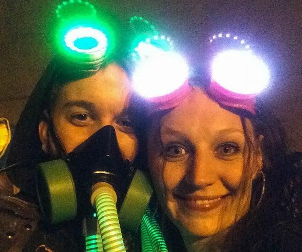 Steampunk Goggle Lights