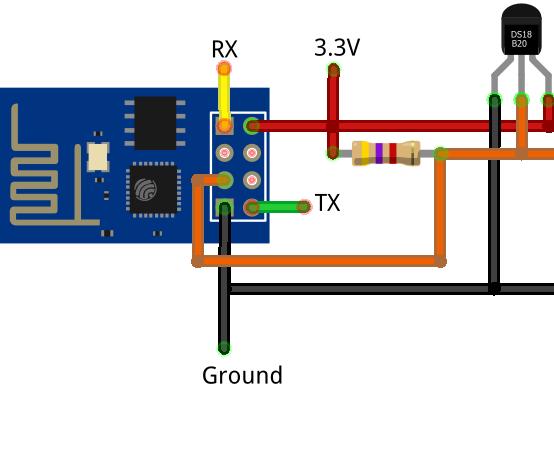 Simple Example: Arduino+ESP8266+DS18B20