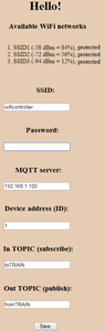 MQTT Data Exchange and Configuration