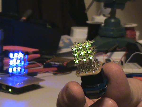Half-Inch LED Cube: Arduino Controlled 3x3x3 With SMD LEDs!