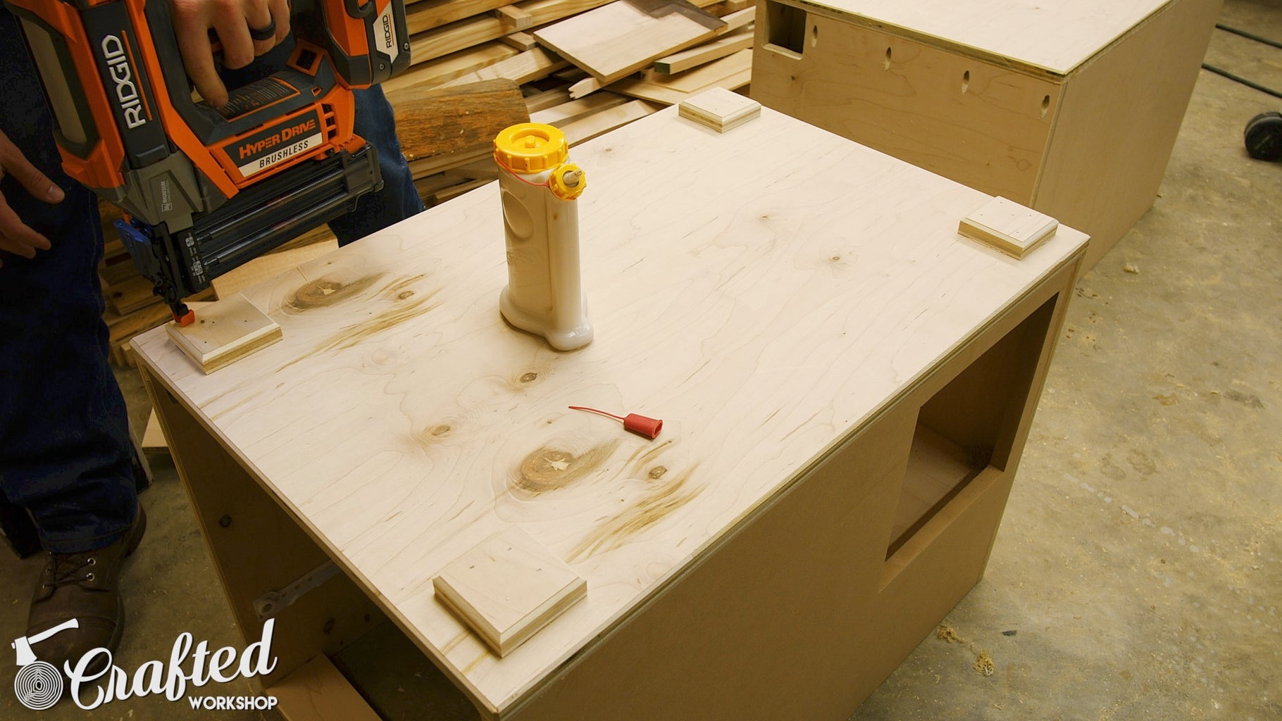 Add Spacer Blocks to Bottom of Cabinets