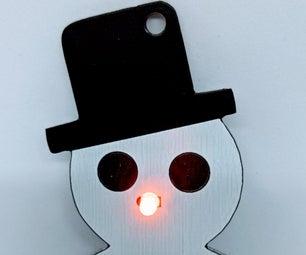 Lighted Snowman Ornament
